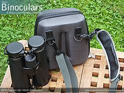 Rear view of the Carry Case & GPO Passion HD 10x42 Binoculars