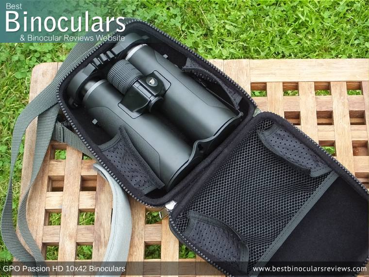 Inside the GPO Passion HD 10x42 Binoculars Carry Case