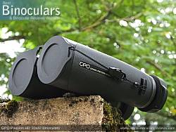 Objective Lens Covers on the GPO Passion HD 10x42 Binoculars
