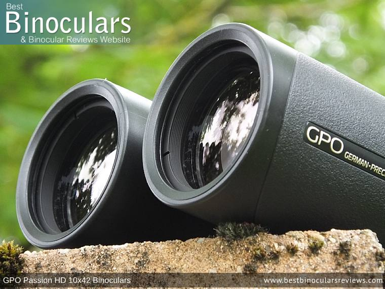 42mm Objective Lenses on the GPO Passion HD 10x42 Binoculars
