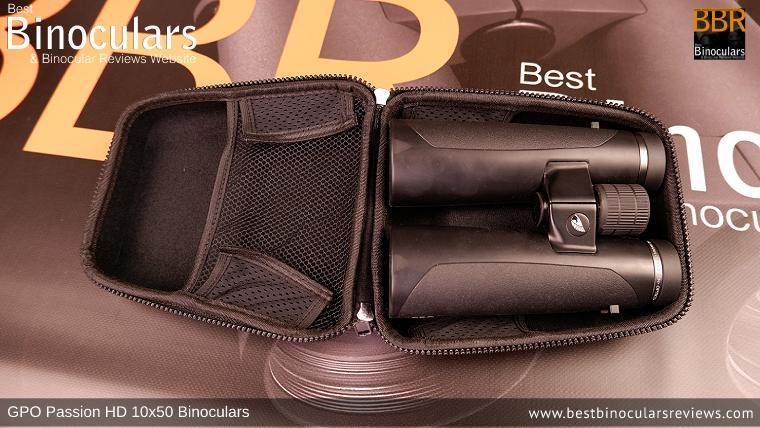 Inside the GPO Passion HD 10x50 Binoculars Carry Case
