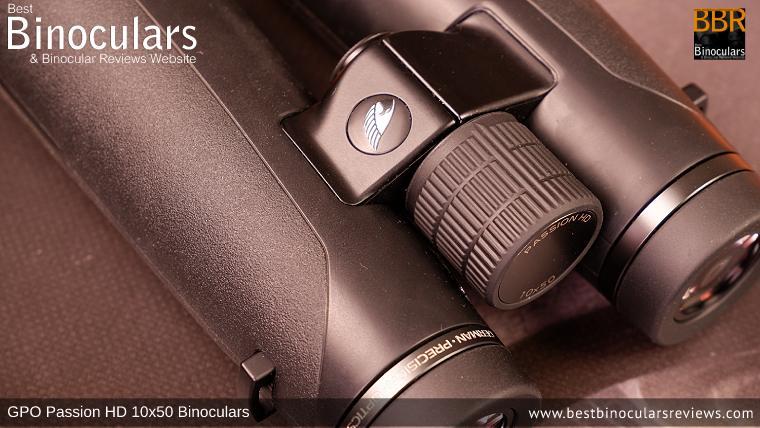 Focus Wheel on the GPO Passion HD 10x50 Binoculars