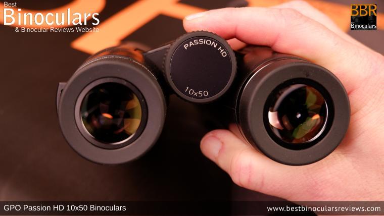 Adjusting the Focus Wheel on the GPO Passion HD 10x50 Binoculars