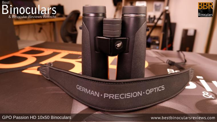 Neck Strap included with the GPO Passion HD 10x50 Binoculars