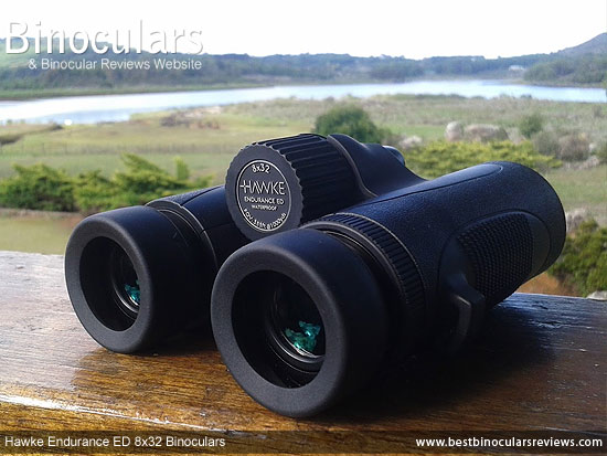 Focus Wheel on the Hawke Endurance ED 8x32 Binoculars