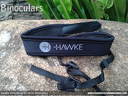 Neck strap on the Hawke Endurance ED 8x32 Binoculars