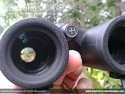 Deeply inset 32mm Objective lens on the Hawke Endurance ED 8x32 Binoculars