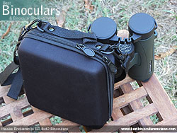Rear view of the Carry Case & Hawke Endurance ED 8x42 Binoculars