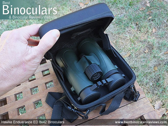 Inside the Hawke Endurance ED 8x42 Binoculars Carry Case