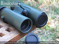 Objective Lens Covers on the Hawke Endurance ED 8x42 Binoculars