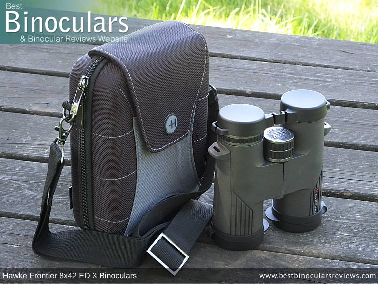 Inside the Hawke Frontier 8x42 ED X Binoculars Carry Case
