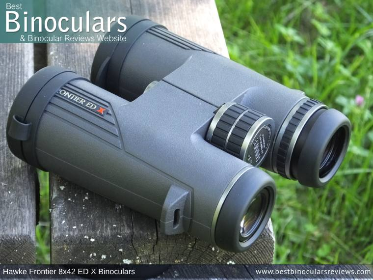 Eyecups on the Hawke Frontier 8x42 ED X Binoculars