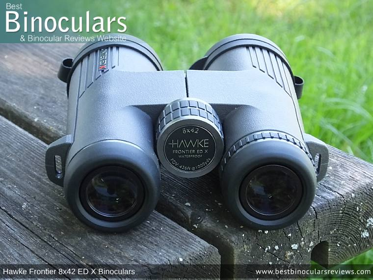 42mm Objective Lenses on the Hawke Frontier 8x42 ED X Binoculars