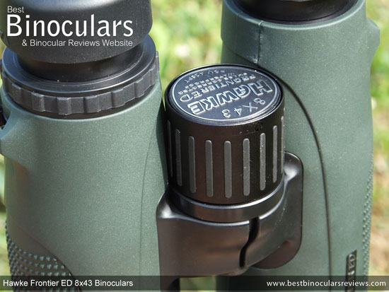 Focus Wheel on the Hawke Frontier ED 8x43 Binoculars