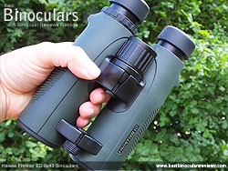 Open Bridge Design on the Hawke Frontier ED 8x43 Binoculars