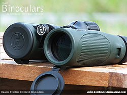 Lens Covers on the Hawke Frontier ED 8x43 Binoculars