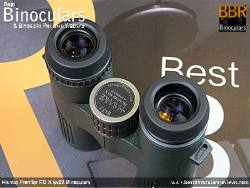 Eyecups on the Hawke Frontier ED X 8x32 Binoculars