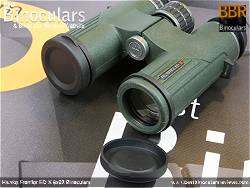 Lens Covers on the Hawke Frontier ED X 8x32 Binoculars