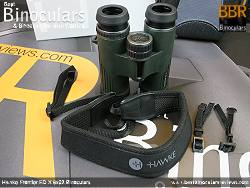 Neck strap on the Hawke Frontier ED X 8x32 Binoculars