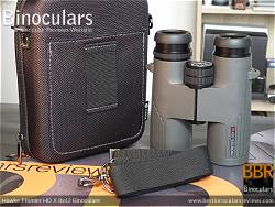Rear view of the Carry Case & Hawke Frontier 8x42 HD X Binoculars
