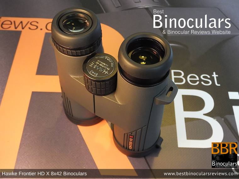 Eyecups on the Hawke Frontier 8x42 HD X Binoculars