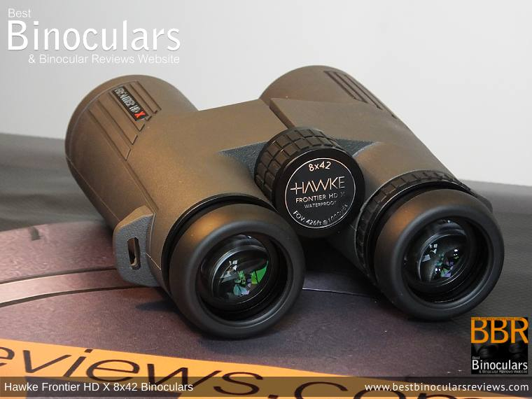 42mm Objective Lenses on the Hawke Frontier 8x42 HD X Binoculars