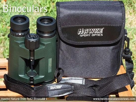Carry Case & Neck Strap for the Hawke Nature-Trek Open Hinge 8x42 Binoculars