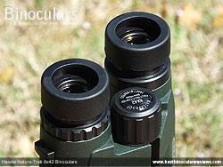 Eyecups on the Hawke Nature-Trek Open Hinge 8x42 Binoculars
