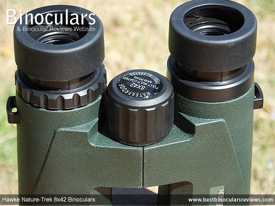 Focus Wheel on the Hawke Nature-Trek Open Hinge 8x42 Binoculars