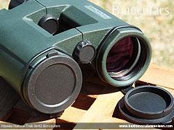 Lens Covers on the Hawke Nature-Trek Open Hinge 8x42 Binoculars