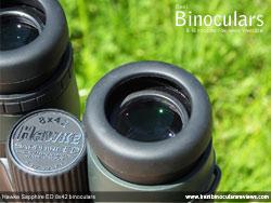 Eyecups on the Hawke Sapphire ED 8x42 Binoculars