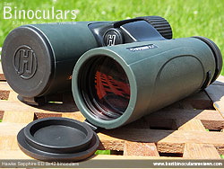 Lens Covers on the Hawke Sapphire ED 8x42 Binoculars