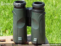 Rear of the Hawke Sapphire ED 8x42 Binoculars