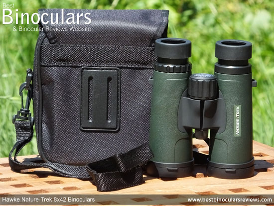 Carry Case & Neck Strap for the Hawke Nature-Trek 8x42 Binoculars