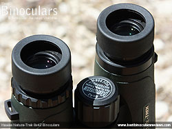 Eyecups on the Hawke Nature-Trek 8x42 Binoculars