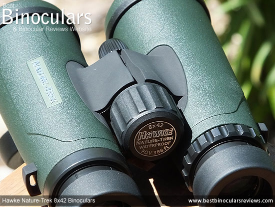 Focus Wheel on the Hawke Nature-Trek 8x42 Binoculars