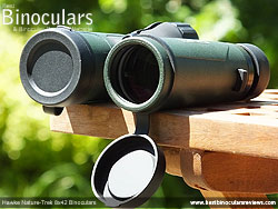 Lens Covers on the Hawke Nature-Trek 8x42 Binoculars