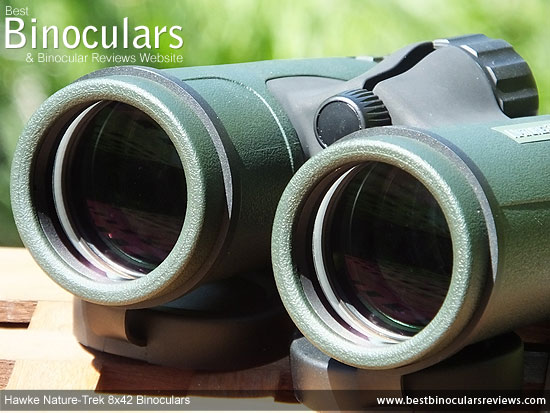 42mm Objective Lenses on the Hawke Nature-Trek 8x42 Binoculars