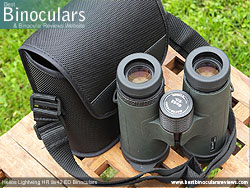 Rear view of the Carry Case & Helios Lightwing HR 8x42 Binoculars