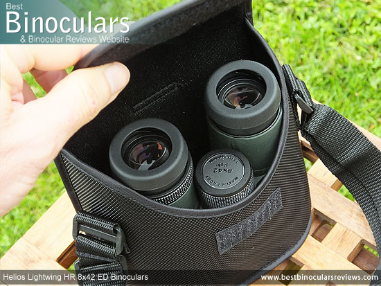 Inside the Helios Lightwing HR 8x42 Binoculars Carry Case