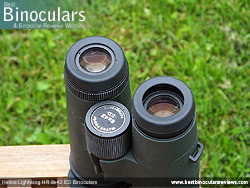 Eyecups on the Helios Lightwing HR 8x42 Binoculars