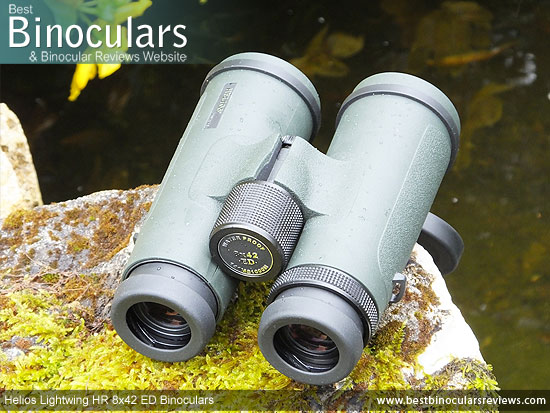 Focus Wheel on the Helios Lightwing HR 8x42 Binoculars