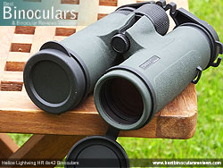 Objective Lens Covers on the Helios Lightwing HR 8x42 Binoculars