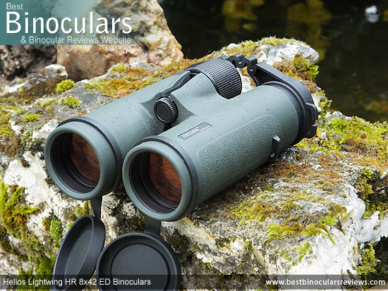 42mm Objective Lenses on the Helios Lightwing HR 8x42 Binoculars