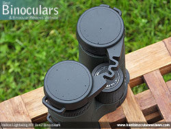 Rain Guard on the Helios Lightwing HR 8x42 Binoculars