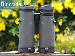 Underside of the Helios Lightwing HR 8x42 Binoculars