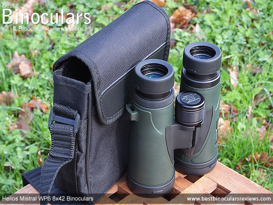 Carry Case & Neck Strap for the Helios Mistral WP6 8x42 Binoculars