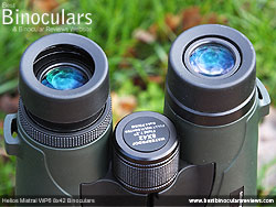 Eyecups on the Helios Mistral WP6 8x42 Binoculars