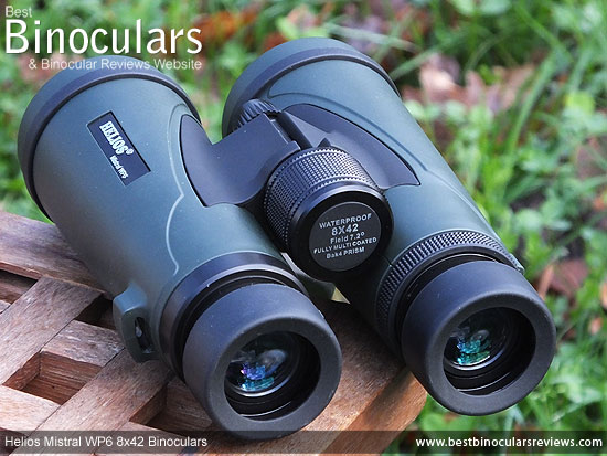 Focus Wheel on the Helios Mistral WP6 8x42 Binoculars