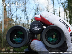 Focusing with gloves - the Helios Mistral WP6 8x42 Binoculars